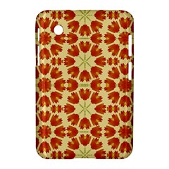 Colorful Floral Print Vector Style Samsung Galaxy Tab 2 (7 ) P3100 Hardshell Case