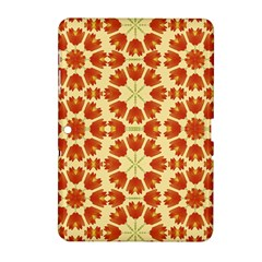 Colorful Floral Print Vector Style Samsung Galaxy Tab 2 (10.1 ) P5100 Hardshell Case