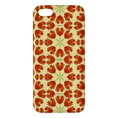 Colorful Floral Print Vector Style Iphone 5s Premium Hardshell Case
