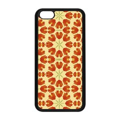 Colorful Floral Print Vector Style Apple iPhone 5C Seamless Case (Black)