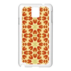 Colorful Floral Print Vector Style Samsung Galaxy Note 3 N9005 Case (White)