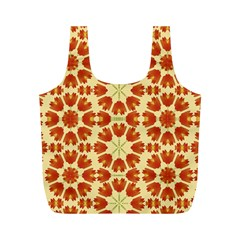 Colorful Floral Print Vector Style Reusable Bag (M)
