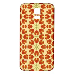Colorful Floral Print Vector Style Samsung Galaxy S5 Back Case (White)