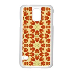 Colorful Floral Print Vector Style Samsung Galaxy S5 Case (white)