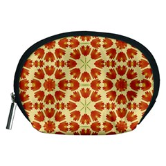 Colorful Floral Print Vector Style Accessory Pouch (Medium)