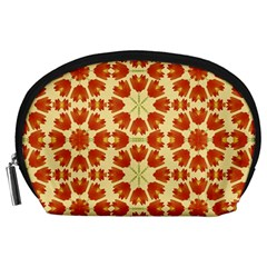 Colorful Floral Print Vector Style Accessory Pouch (Large)