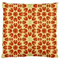 Colorful Floral Print Vector Style Large Flano Cushion Case (one Side)