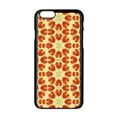 Colorful Floral Print Vector Style Apple Iphone 6 Black Enamel Case