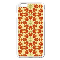 Colorful Floral Print Vector Style Apple Iphone 6 Plus Enamel White Case