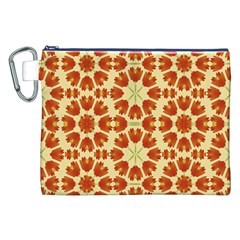 Colorful Floral Print Vector Style Canvas Cosmetic Bag (XXL)