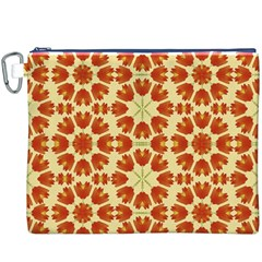 Colorful Floral Print Vector Style Canvas Cosmetic Bag (XXXL)