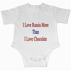 I Love Russia More Than I Love Chocolate Infant Bodysuit