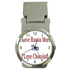 I Love Russia More Than I Love Chocolate Money Clip With Watch