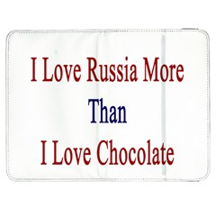 I Love Russia More Than I Love Chocolate Samsung Galaxy Tab 7  P1000 Flip Case