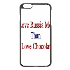 I Love Russia More Than I Love Chocolate Apple iPhone 6 Plus Black Enamel Case