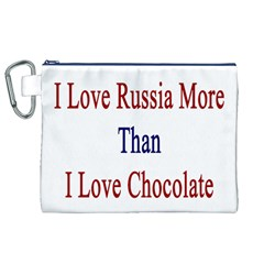 I Love Russia More Than I Love Chocolate Canvas Cosmetic Bag (xl)
