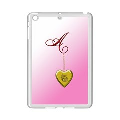 A Golden Rose Heart Locket Apple iPad Mini 2 Case (White)