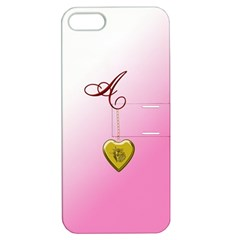 A Golden Rose Heart Locket Apple Iphone 5 Hardshell Case With Stand