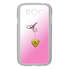 A Golden Rose Heart Locket Samsung Galaxy Grand DUOS I9082 Case (White)