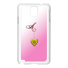 A Golden Rose Heart Locket Samsung Galaxy Note 3 N9005 Case (white)