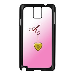 A Golden Rose Heart Locket Samsung Galaxy Note 3 N9005 Case (Black)