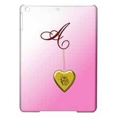 A Golden Rose Heart Locket Apple iPad Air Hardshell Case