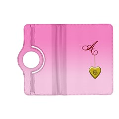 A Golden Rose Heart Locket Kindle Fire HD (2013) Flip 360 Case