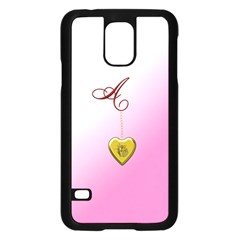 A Golden Rose Heart Locket Samsung Galaxy S5 Case (Black)