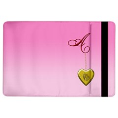 A Golden Rose Heart Locket Apple Ipad Air 2 Flip Case