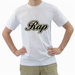 Rap Music Men s T Shirt (white)