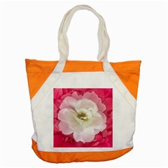 White Rose With Pink Leaves Around  Accent Tote Bag