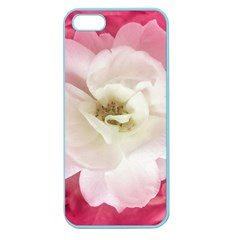 White Rose With Pink Leaves Around  Apple Seamless Iphone 5 Case (color)