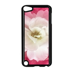 White Rose with Pink Leaves Around  Apple iPod Touch 5 Case (Black)