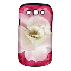 White Rose With Pink Leaves Around  Samsung Galaxy S Iii Classic Hardshell Case (pc+silicone)