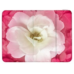 White Rose with Pink Leaves Around  Samsung Galaxy Tab 7  P1000 Flip Case