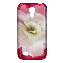 White Rose With Pink Leaves Around  Samsung Galaxy S4 Mini (gt I9190) Hardshell Case