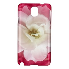 White Rose with Pink Leaves Around  Samsung Galaxy Note 3 N9005 Hardshell Case