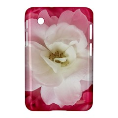 White Rose with Pink Leaves Around  Samsung Galaxy Tab 2 (7 ) P3100 Hardshell Case
