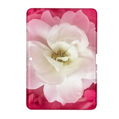 White Rose with Pink Leaves Around  Samsung Galaxy Tab 2 (10.1 ) P5100 Hardshell Case