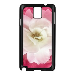 White Rose with Pink Leaves Around  Samsung Galaxy Note 3 N9005 Case (Black)