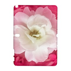 White Rose With Pink Leaves Around  Samsung Galaxy Note 10 1 (p600) Hardshell Case