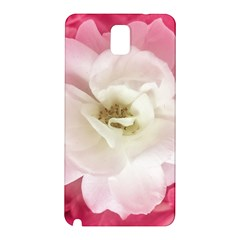 White Rose with Pink Leaves Around  Samsung Galaxy Note 3 N9005 Hardshell Back Case