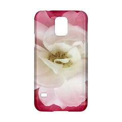 White Rose with Pink Leaves Around  Samsung Galaxy S5 Hardshell Case