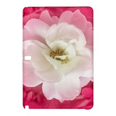 White Rose With Pink Leaves Around  Samsung Galaxy Tab Pro 10 1 Hardshell Case