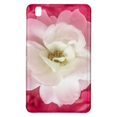 White Rose with Pink Leaves Around  Samsung Galaxy Tab Pro 8.4 Hardshell Case