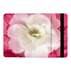 White Rose with Pink Leaves Around  Samsung Galaxy Tab Pro 10.1  Flip Case