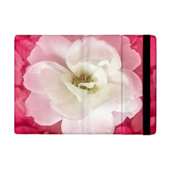 White Rose with Pink Leaves Around  Apple iPad Mini 2 Flip Case