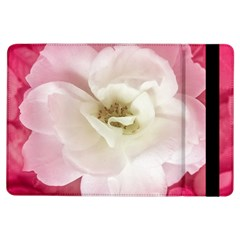 White Rose with Pink Leaves Around  Apple iPad Air Flip Case
