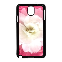 White Rose with Pink Leaves Around  Samsung Galaxy Note 3 Neo Hardshell Case (Black)