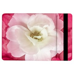 White Rose with Pink Leaves Around  Apple iPad Air 2 Flip Case